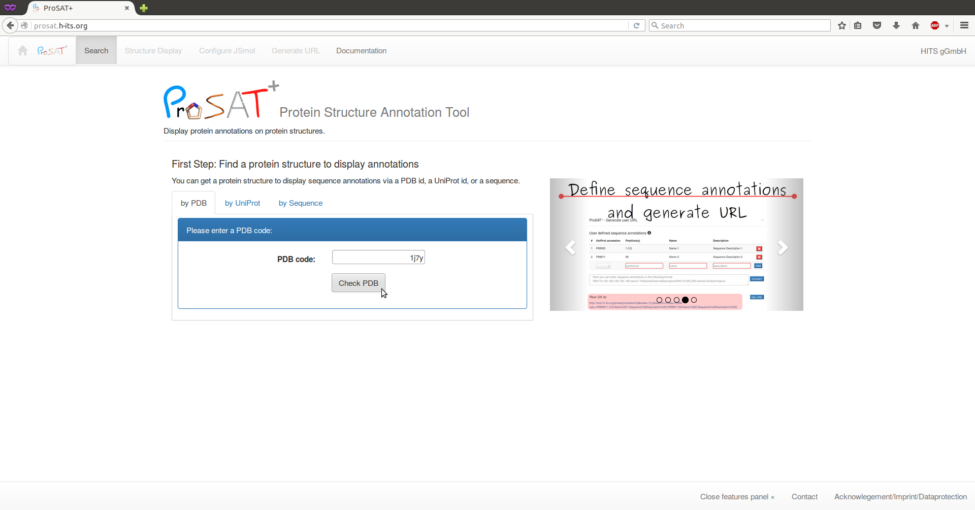 ProSAT+ (Protein Structure Annotation Tool) Documentation Page